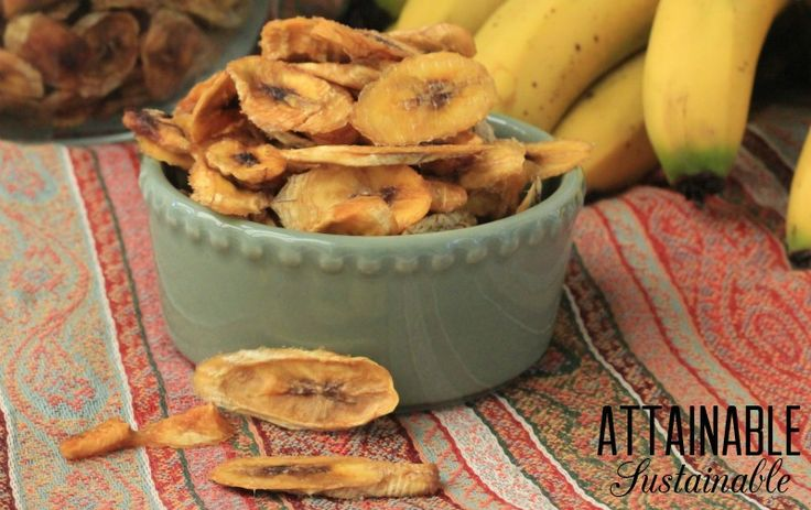 Dehydrated bananas are a great healthy snack and they're easy to make. Salvage brown bananas to add to your pantry or emergency supplies.