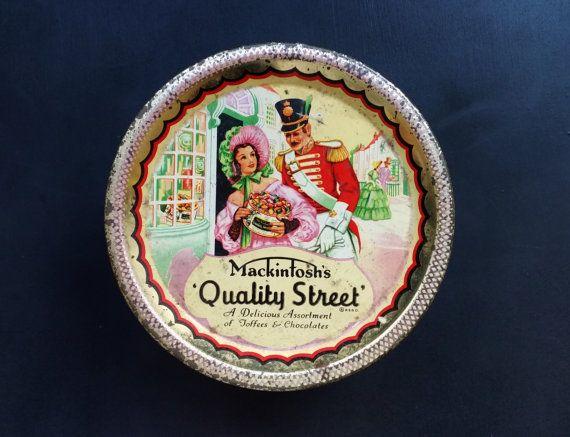 Quality Street Litho Tin 1950s Chocolate Box by darcyelizavintage