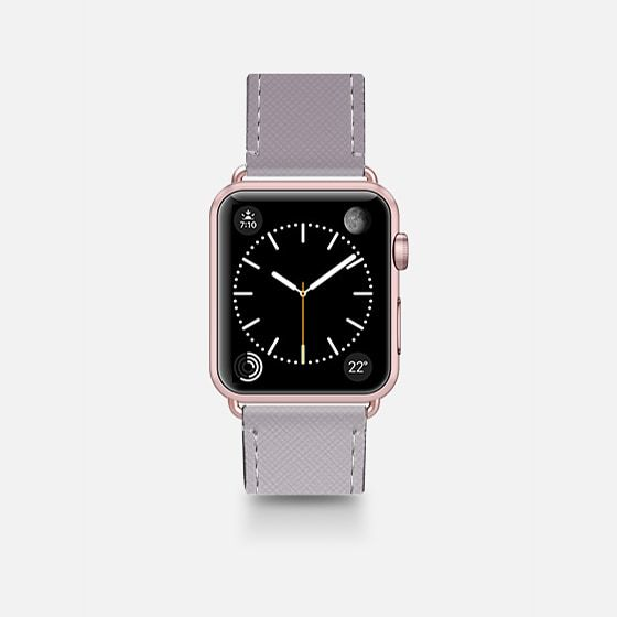 Simple Trendy Black to Transparent Gradient - Saffiano Leather Watch Band