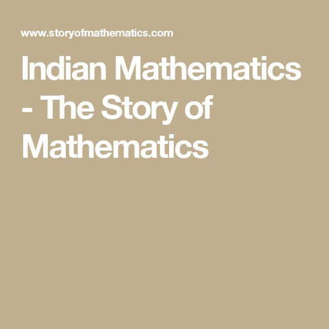 Indian Mathematics - The Story of Mathematics