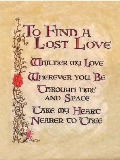 """Book of Shadows:  """"To Find a Lost Love."""""""