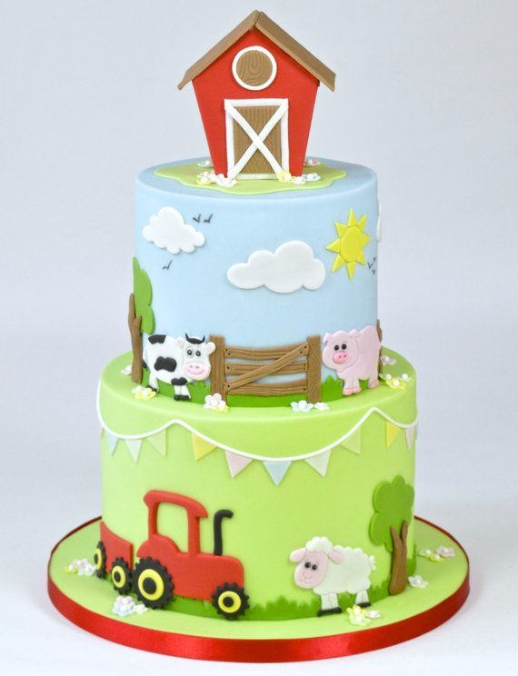 Cute Farm Animals Large Fondant Cutter With Images Farm