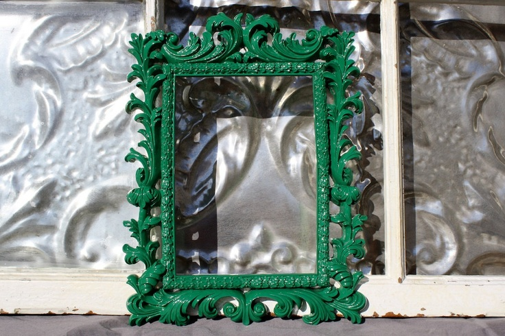 Ornate Picture Frame Emerald Green 5 x 7. $29.50, via Etsy.