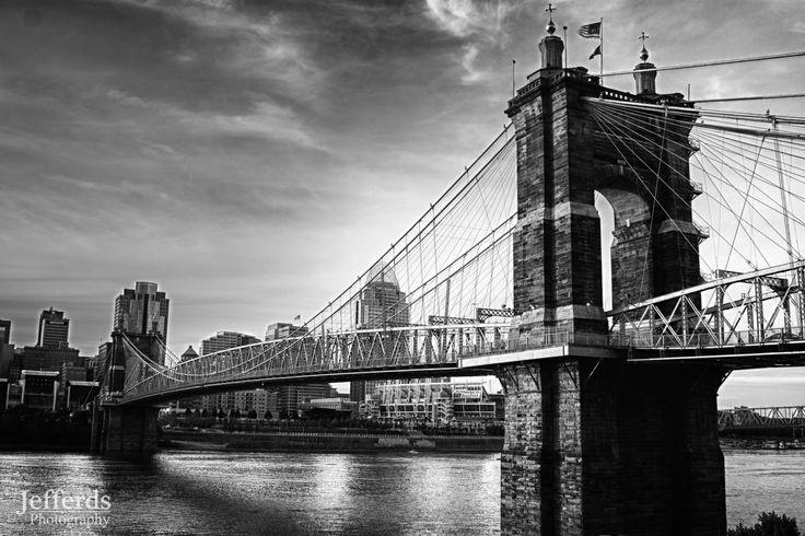 Roebling Bridge, Kentucky side looking at Cincinnati