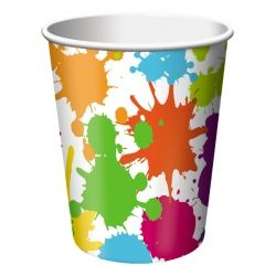 Art Party Cups - 8 Pack Party Supplies Canada - Open A Party