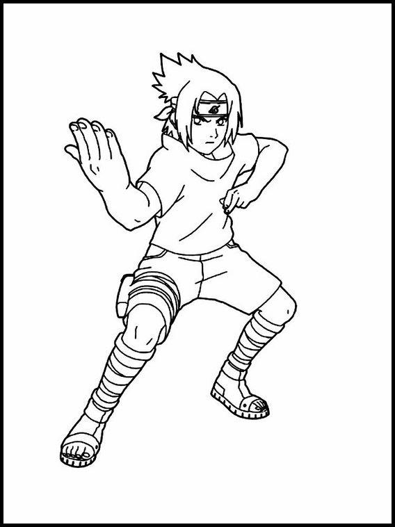 Sasuke Uchiha 6 Ausmalbilder Für Kinder Malvorlagen Zum