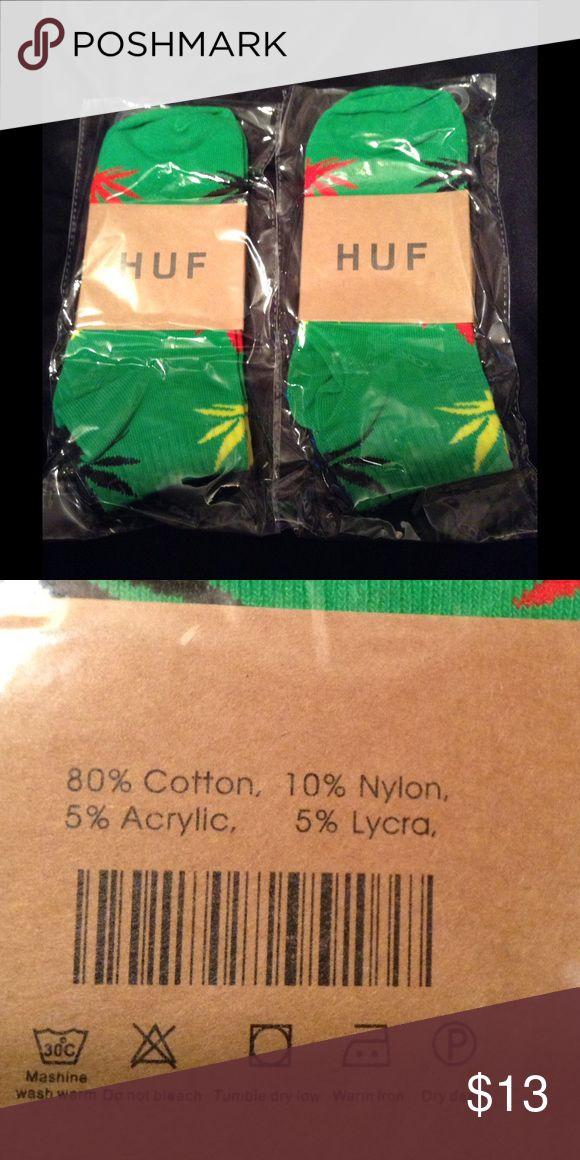 2 Multi colored 420 Marijuana Socks Hemp Leafs 2 pairs of Huf (non-authentic)! 420 Marijuana Socks--both pairs $10. Accessories Hosiery & Socks