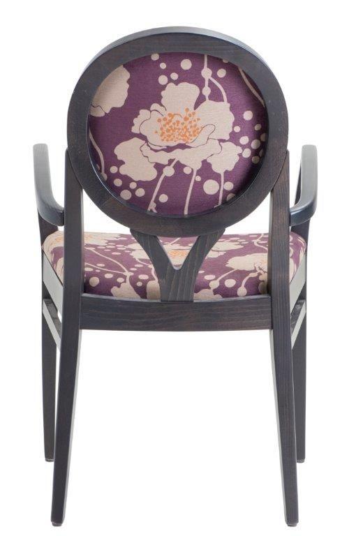 Lorenza armchair covered in Florence Broadhurst Spotten Floral Plum  #materialisedfabrics #fabricsfortherealworld #performancefabrics #florencebroadhurst