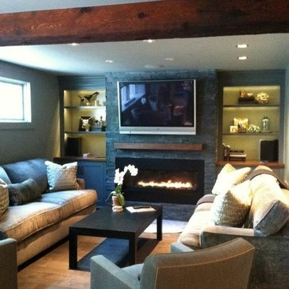 Basement Photos Tv Above Fireplace Design Pictures
