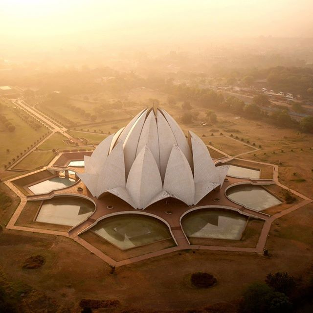 "Lotus Temple in #NewDelhi #India / Drone Photography by Amos Chapple. ""Inspired…"