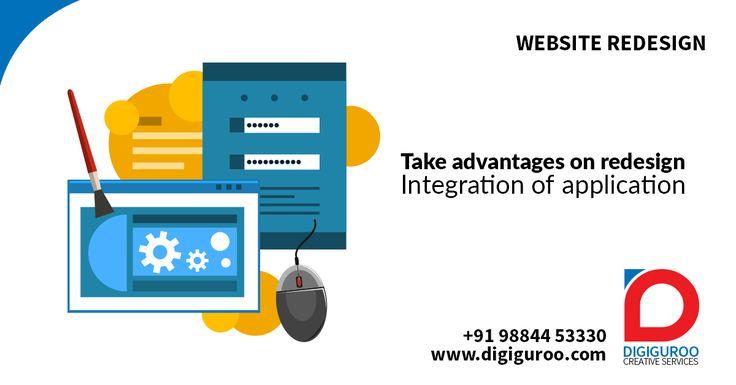 #Website #Redesign Take #advantages on #redesign. Integration of #application. http://digiguroo.com