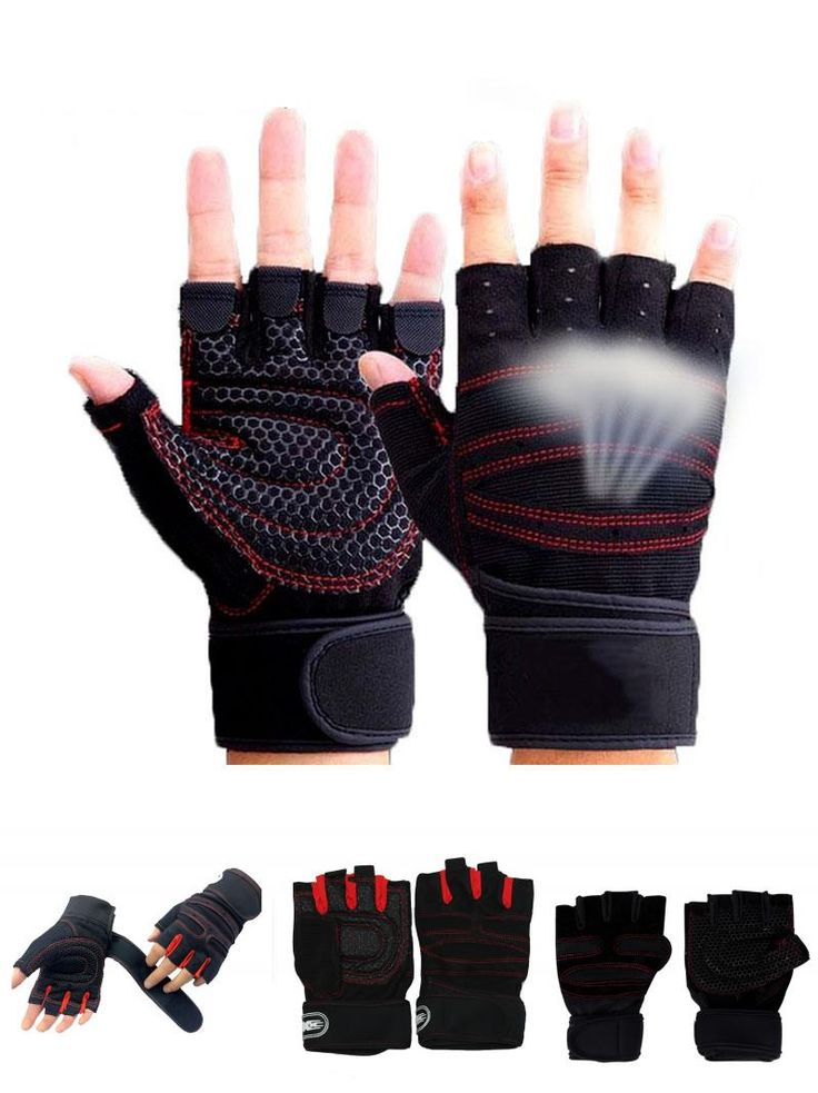 [Visit to Buy] Sports Gym Gloves Half Finger Breathable Weightlifting Fitness Gloves Dumbbell Men Women Weight lifting Gym Gloves M/L/XL #Advertisement