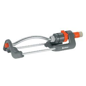 Gardena 1980 Polo 2,400 Square Foot Oscillating Sprinkler With Adjustable Garden Spray Range by Gardena. $29.33. Area coverage is 950 - 2400 square feet. Spray range fully adjustable.. 2,400 square foot coverage. Adjustable range is 23-feet to 56-feet. From the Manufacturer                Gardena's aim is to provide a simple and convenient solution to all of your watering, soil and lawn care problems. We manufacture reliable, quality gardening equipment to mak...