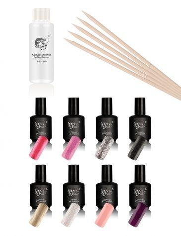 Vylet-Nails Premium, UV lak za nohte manikura set - strokovni sklop 10 kos