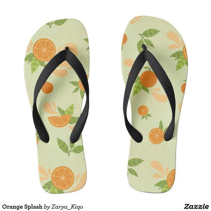 Orange Splash  - a citrus inspired pattern in flip flops