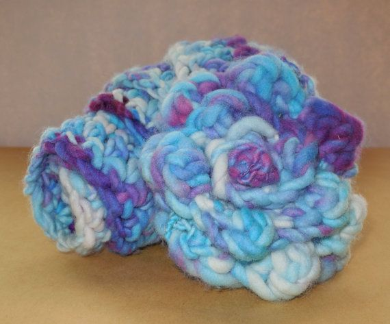 Crocheted scarf medium merino 46x3inches by SpinHeartSpin on Etsy, $40.00
