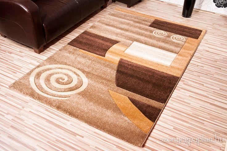 Friese barna csigás szőnyeg