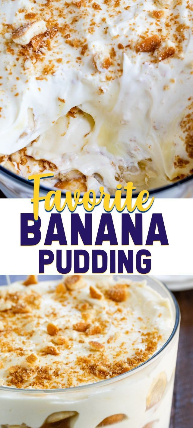 Favorite Banana Pudding Recipe Crazy For Crust Recipe Easy Banana Pudding Recipe Banana Pudding Recipes Easy Banana Pudding
