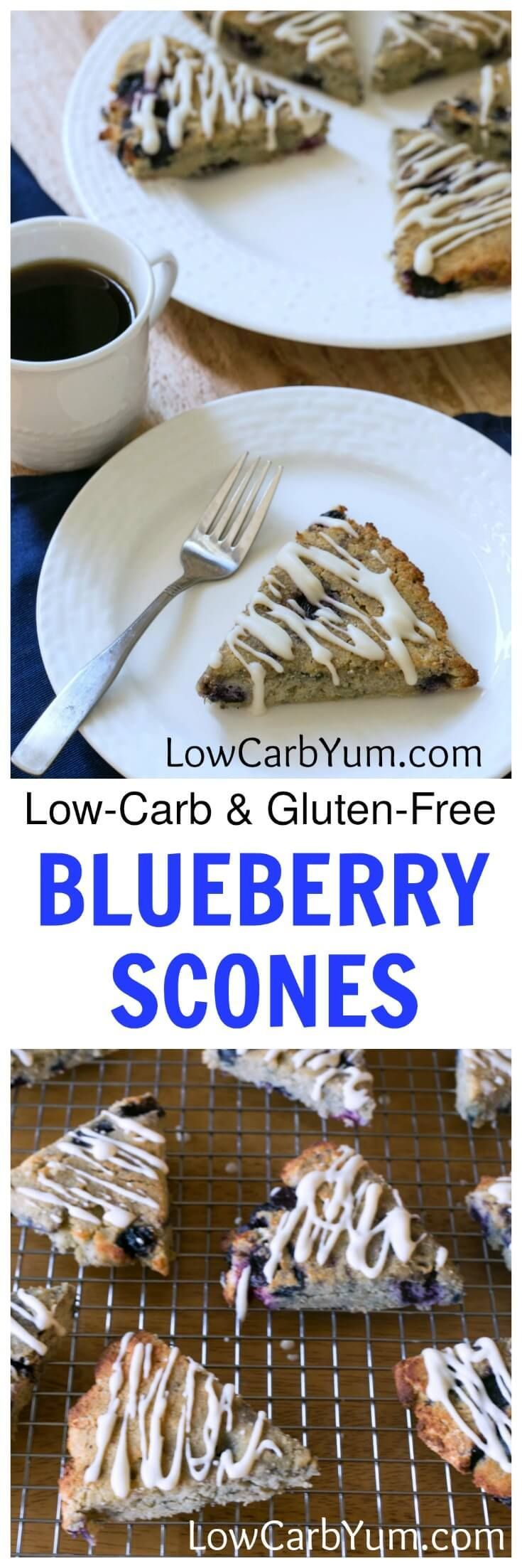 Tasty low carb blueberry scones are a welcoming breakfast treat. Made ...