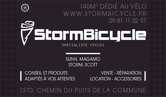 STORM BICYCLE STORM BICYCLE, boutique de 140 m2 dédié au vélo à La Londe les Maures dans le Var, bénéficiez de la qualité des produits à prix réduits pour tous les adeptes de cyclisme et de triathlon. VENTE DE VÉLOS, LOCATION DE VÉLOS, RÉPARATION DE VÉLOS Electriques - de route - Vtt - enfants, Montage de roues carbonne à la carte, réparations, crevaisons...