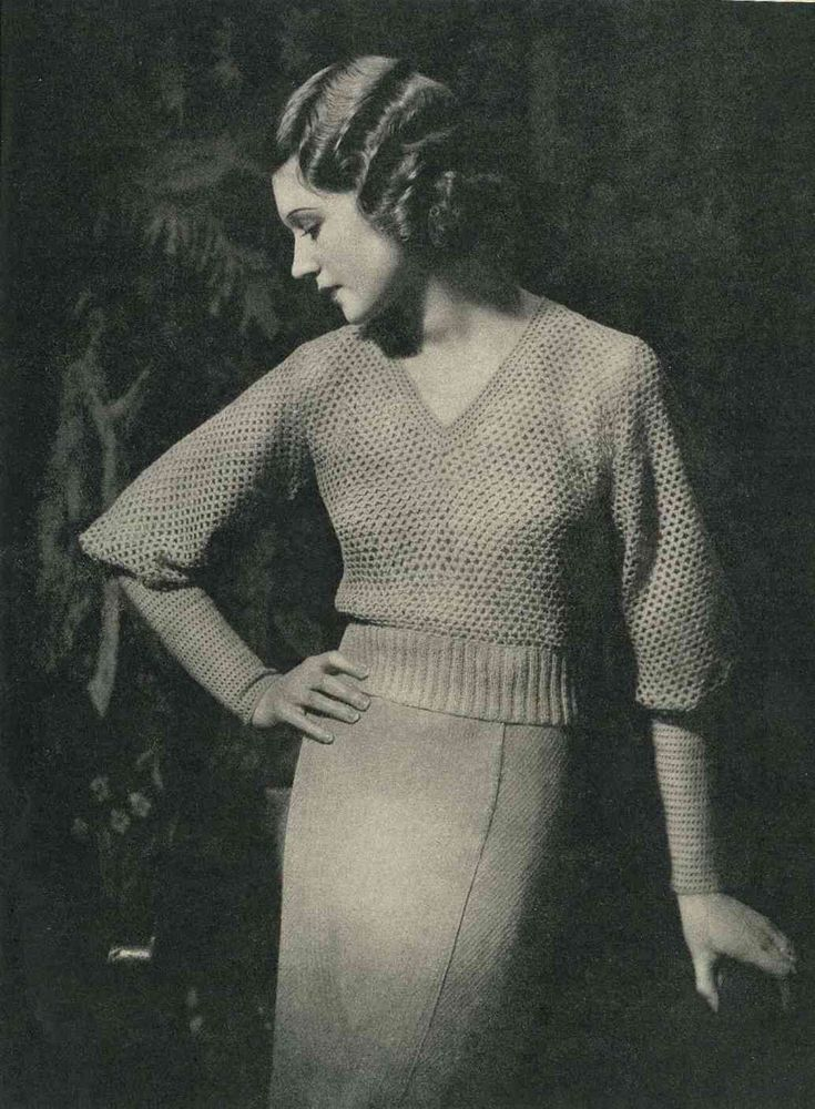 Lux Knitting for 1934, 16 designs c.1930s - Vintage Knitting Pattern booklet PDF. $6.00, via Etsy.