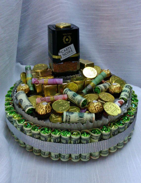 (81) Gallery.ru / Фото #5 - Конфетные торты и корзины - GalinaF33