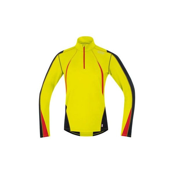 Camiseta Air Thermo Neon Zip. Amarillo/Negro. Gore Running Wear. http://365rider.com