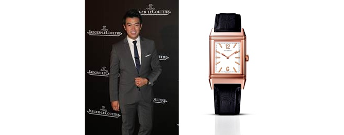 Comedian Wonho Chung wearing Jaeger-LeCoultre Grande Reverso Ultra Thi Tribute to 1931 in pink gold