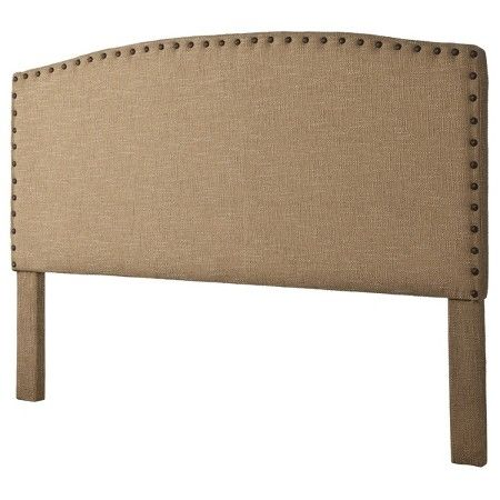 Burlap & Nailbutton Headboard - Beige (Full/Queen)                                                                                                                                                                                 More