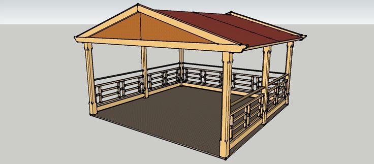 gartenpavillon holz satteldach. Black Bedroom Furniture Sets. Home Design Ideas
