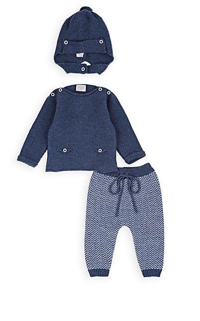 716daf99f Paz Rodriguez Infants' Herringbone Wool 3-Piece Set - Sets - 505890858