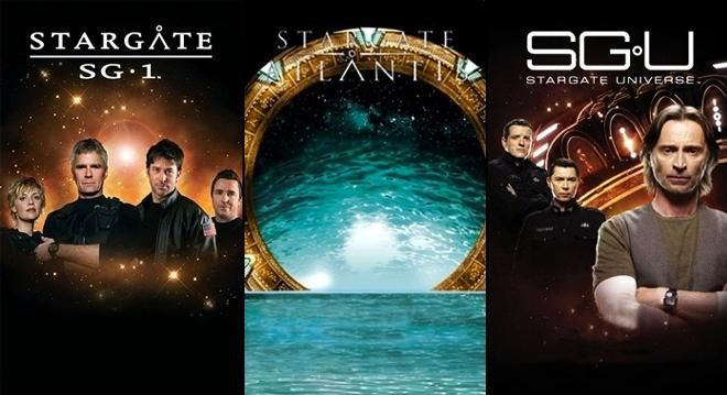 The Stargate shows... I think Stargate: Atlantis is the best, though :)
