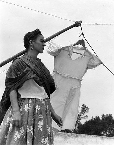 Frida photographed by Manuel Álvarez Bravo,  1930s