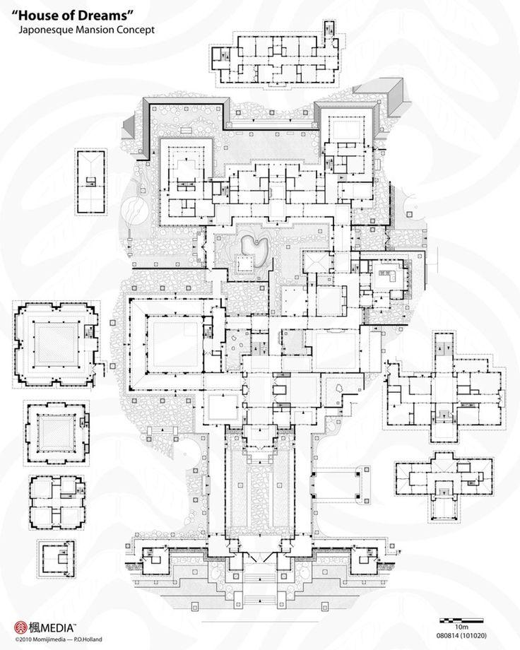 mansion inside drawing