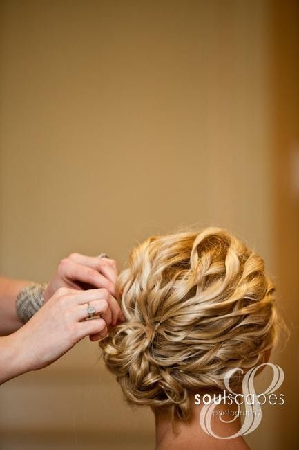 not the typical updo  http://soulscapesphotography.com/proofs/main.php?g2_itemId=97342 for more shots: Hair Ideas, Wedding Hair, Bridesmaid Hair, Prom Hair, Hair Style, Spirals Curls, Updo, Side Buns, Curly Hair