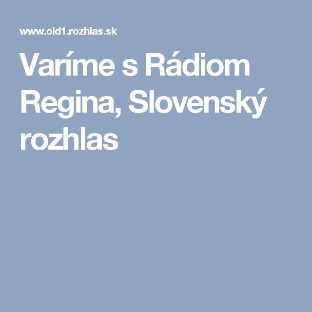 Varíme s Rádiom Regina, Slovenský rozhlas