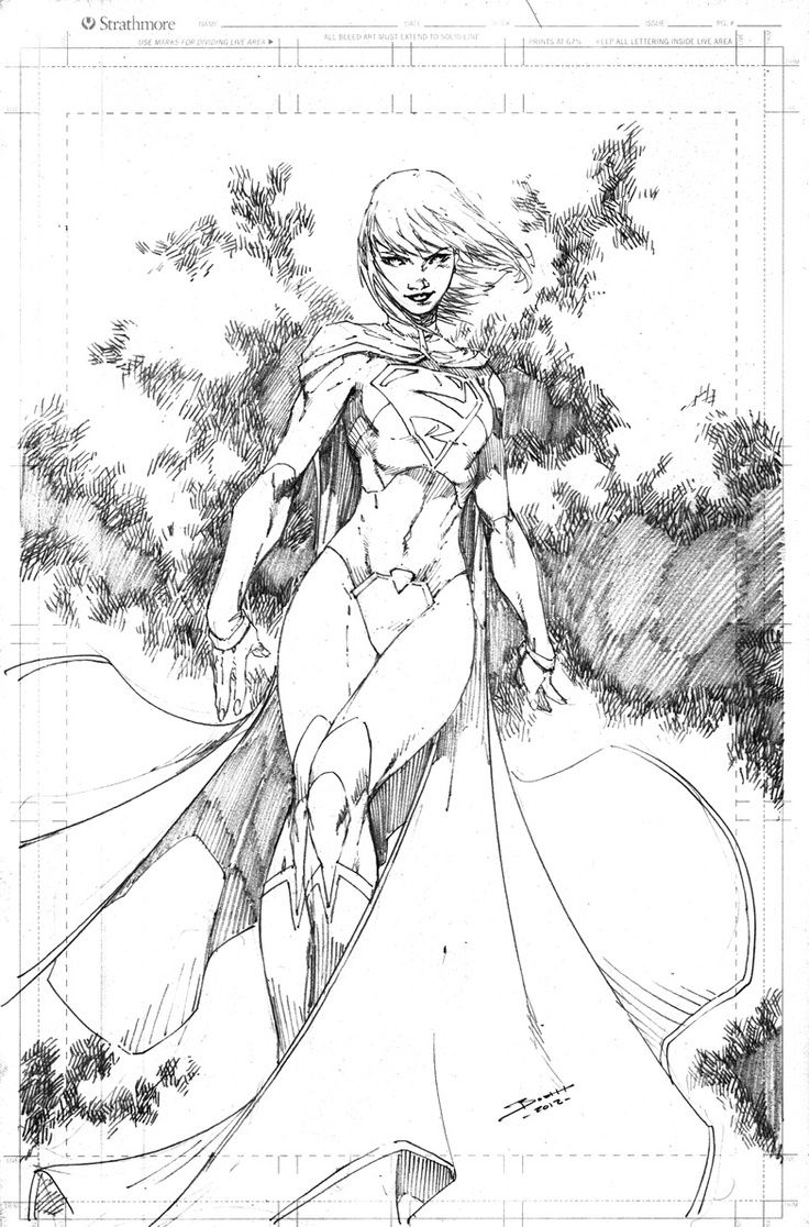 Supergirl sketch