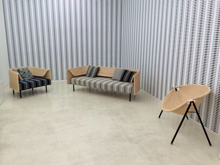 Wrap Collection by Hiroomi Tahara and Kani chair by Toshio Yano, both for Yamakawa Rattan