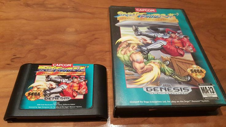 Capcom Street Fighter 2 Championship edition Sega Genesis in box, sega video game, Street Fighter II - pinned by pin4etsy.com