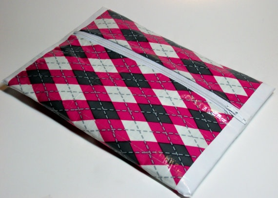 Pencil Pouch Makeup Bag Duct Tape with Zipper by TiedUpInTape, $10.00