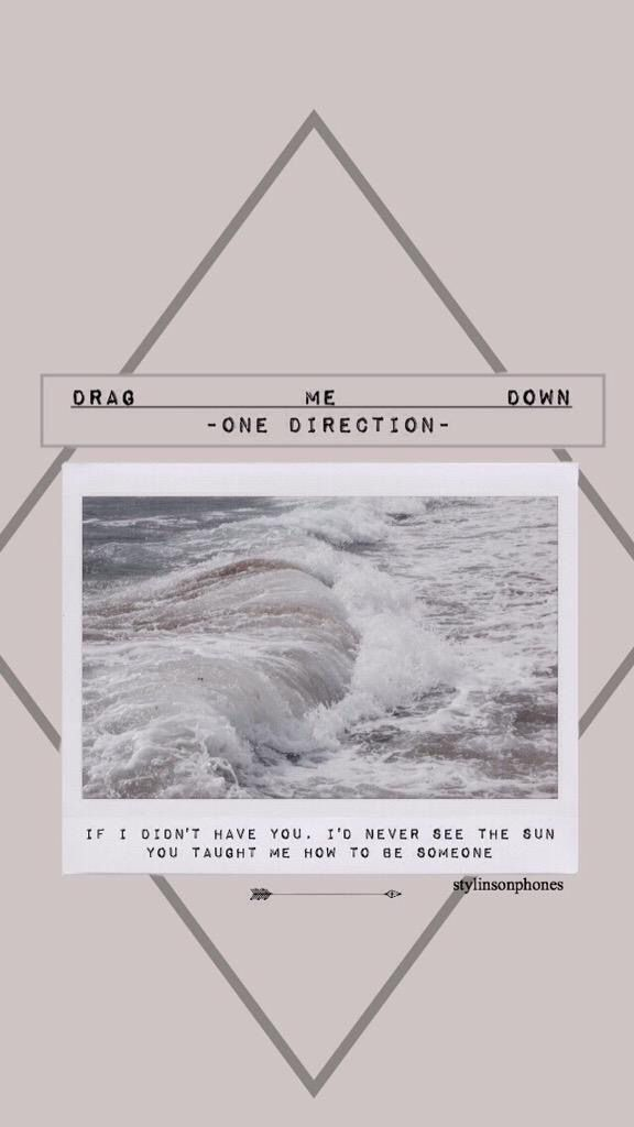 Drag Me Down - One Direction Lockscreen Ctto: @stylinsonphones ( on Twitter )