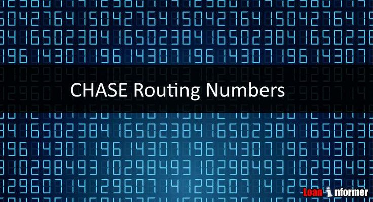 When you need to send/receive money via wire transfer, you will need these numbers!  http://www.loaninformer.com/banking/chase-bank-routing-number/