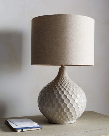 "Honeycomb Ceramic Table Lamp 22""H x 14""W"