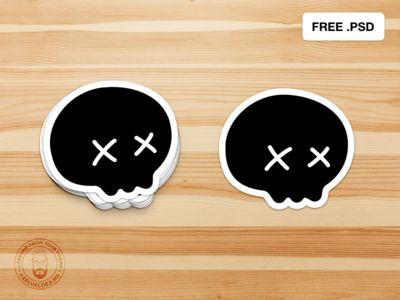 Free Sticker Psd Mockup Mockup Free Psd Mockup Design Mockup Templates