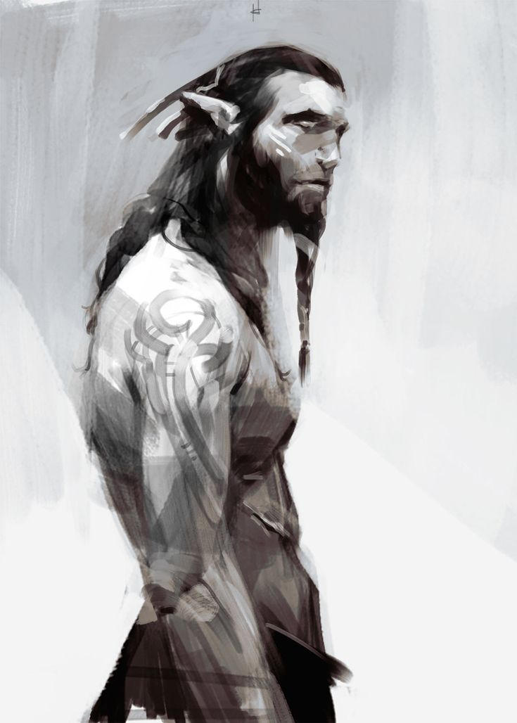 BW Guy, Marina Krivenko on ArtStation at https://www.artstation.com/artwork/bw-guy