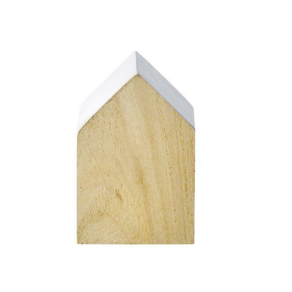 Hus tre/hvit - Keiserens nye trær Dekorativt hus av tre, med hvitmalte detaljer. 8x8x12cm stort. Fra bloomingville. Veil. 69,-
