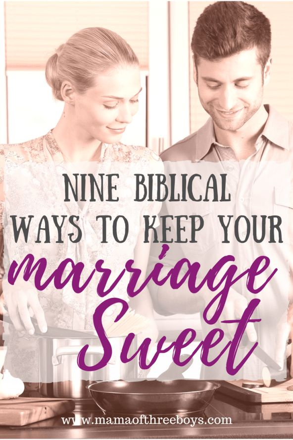 Keep marriage sweet by applying these 9 concepts to each interaction you have with each other.