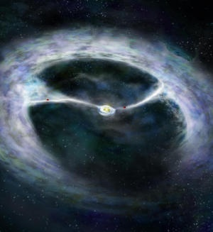 Astronomers have used the ALMA telescope to get their first glimpse of a fascinating stage of star formation in which planets forming around a young star are helping the star itself continue to grow, resolving a longstanding mystery.