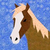 Horse paper pieced block - via @Craftsy