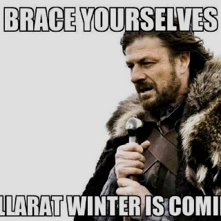 Brace yourself, Ballarat winter is coming @StyleSpaceandStuff.Blogspot.com Elshaug This made me chuckle!